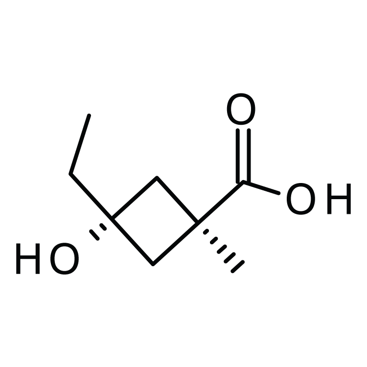 trans-3-Ethyl-3-hydroxy-1-methylcyclobutanecarboxylic acid