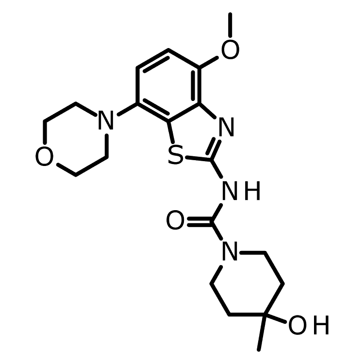 4-Hydroxy-N-[4-methoxy-7-(4-morpholinyl)-2-benzothiazolyl]-4-methyl-1-piperidinecarboxamide