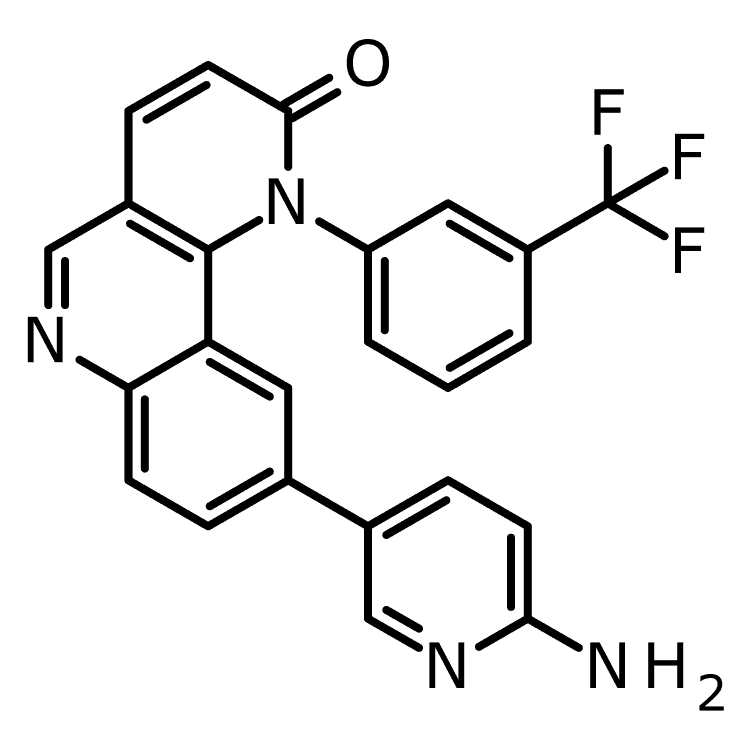 9-(6-Amino-pyridin-3-yl)-1-(3-trifluoromethyl-phenyl)-1H-benzo[h][1,6]naphthyridin-2-one