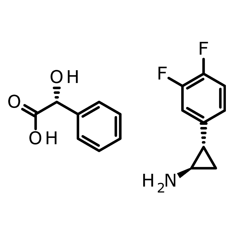 (1R,2S)-2-(3,4-difluorophenyl)cyclopropan-1-amine;  (2R)-2-hydroxy-2-phenylacetic acid