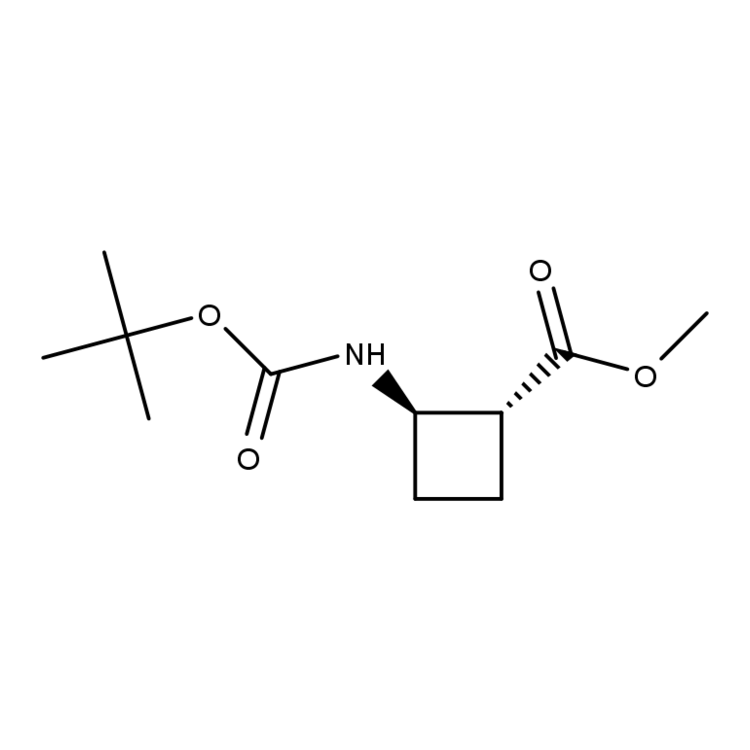 methyl trans-2-{[(tert-butoxy)carbonyl]amino}cyclobutane-1-carboxylate