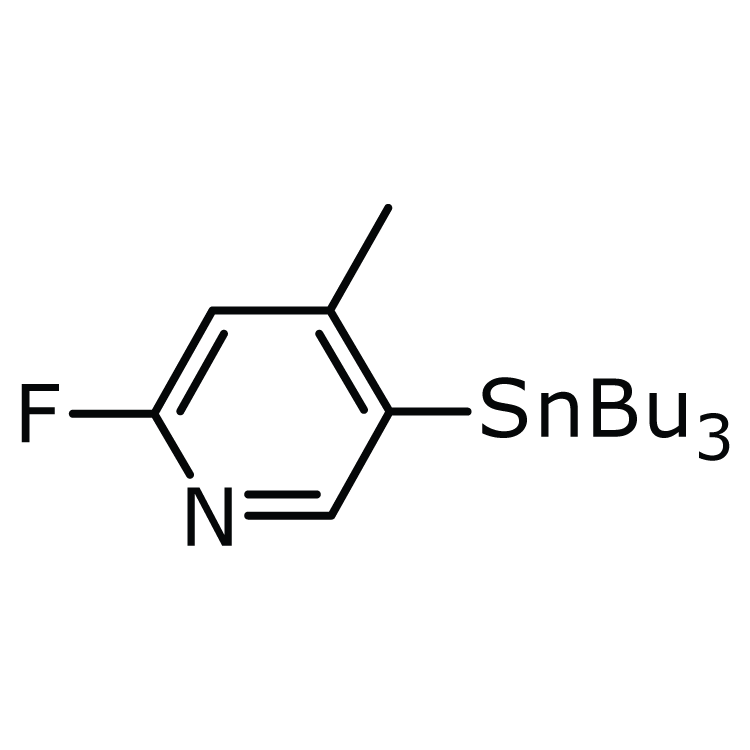 2-Fluoro-4-methyl-5-(tributylstannyl)pyridine