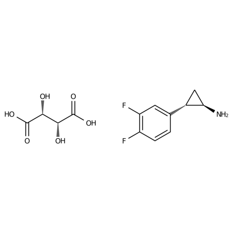 (1R,2S)-2-(3,4-Difluorophenyl)cyclopropanamine (2R,3R)-2,3-Dihydroxysuccinate