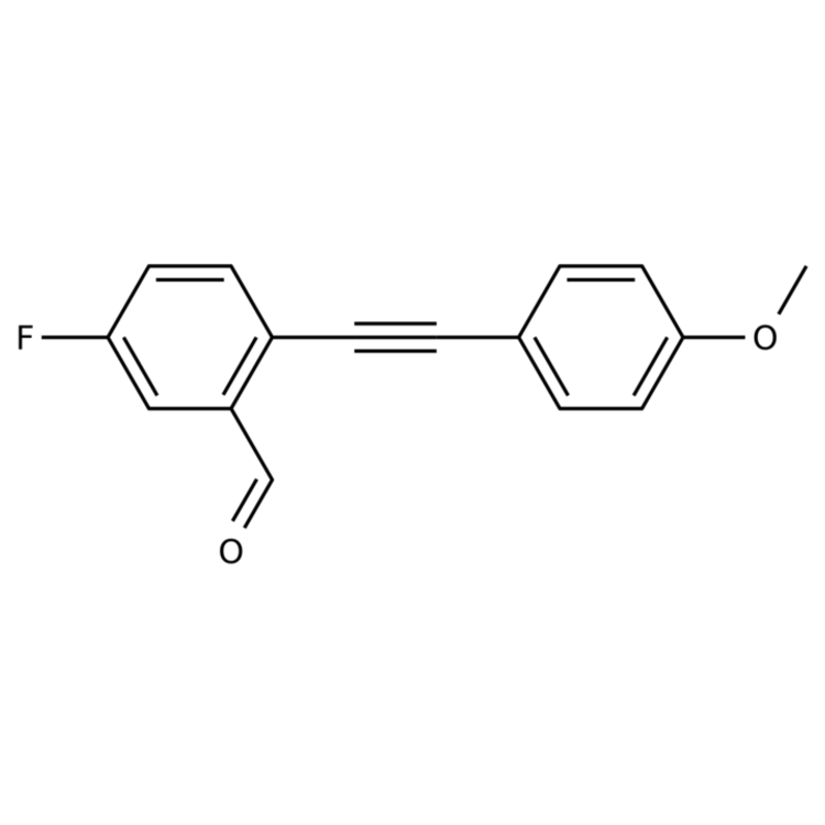 5-Fluoro-2-((4-methoxyphenyl)ethynyl)benzaldehyde