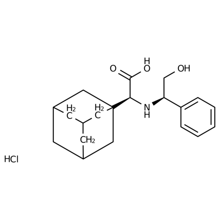 (S)-2-(Adamantan-1-yl)-2-(((R)-2-hydroxy-1-phenylethyl)amino)acetic acid hydrochloride