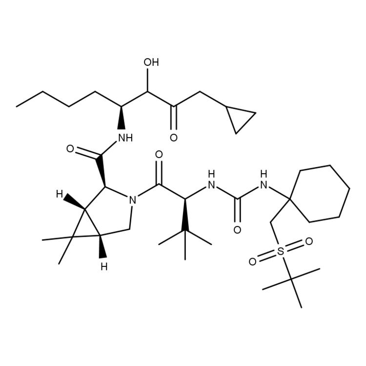 (1R,2S,5S)-3-((S)-2-(3-(1-(tert-butylsulfonylmethyl)cyclohexyl)ureido)-3,3-dimethylbutanoyl)-N-((3S)-1-(cyclopropylamino)-2-hydroxy-1-oxoheptan-3-yl)-6,6-dimethyl-3-azabicyclo[3.1.0]hexane-2-carboxamide