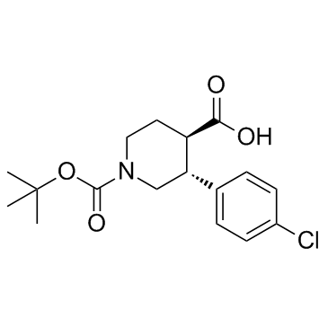 (±)-trans-1-(tert-Butoxycarbonyl)-3-(4-chlorophenyl)piperidine-4-carboxylic acid